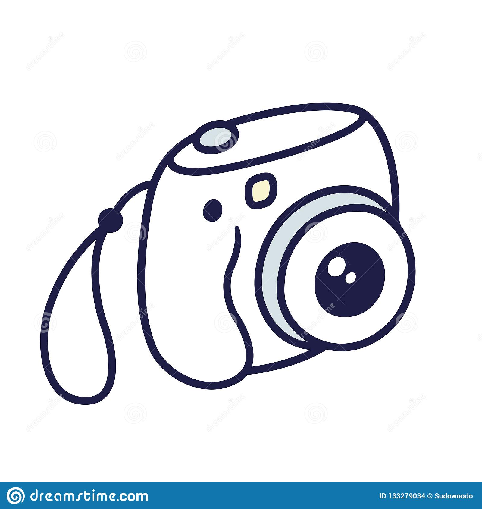 Instant Photo Camera Stock Vector Illustration Of Isolated