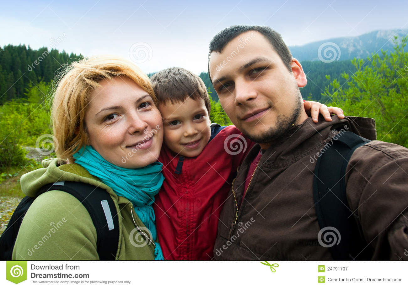 Instantané de voyage de famille