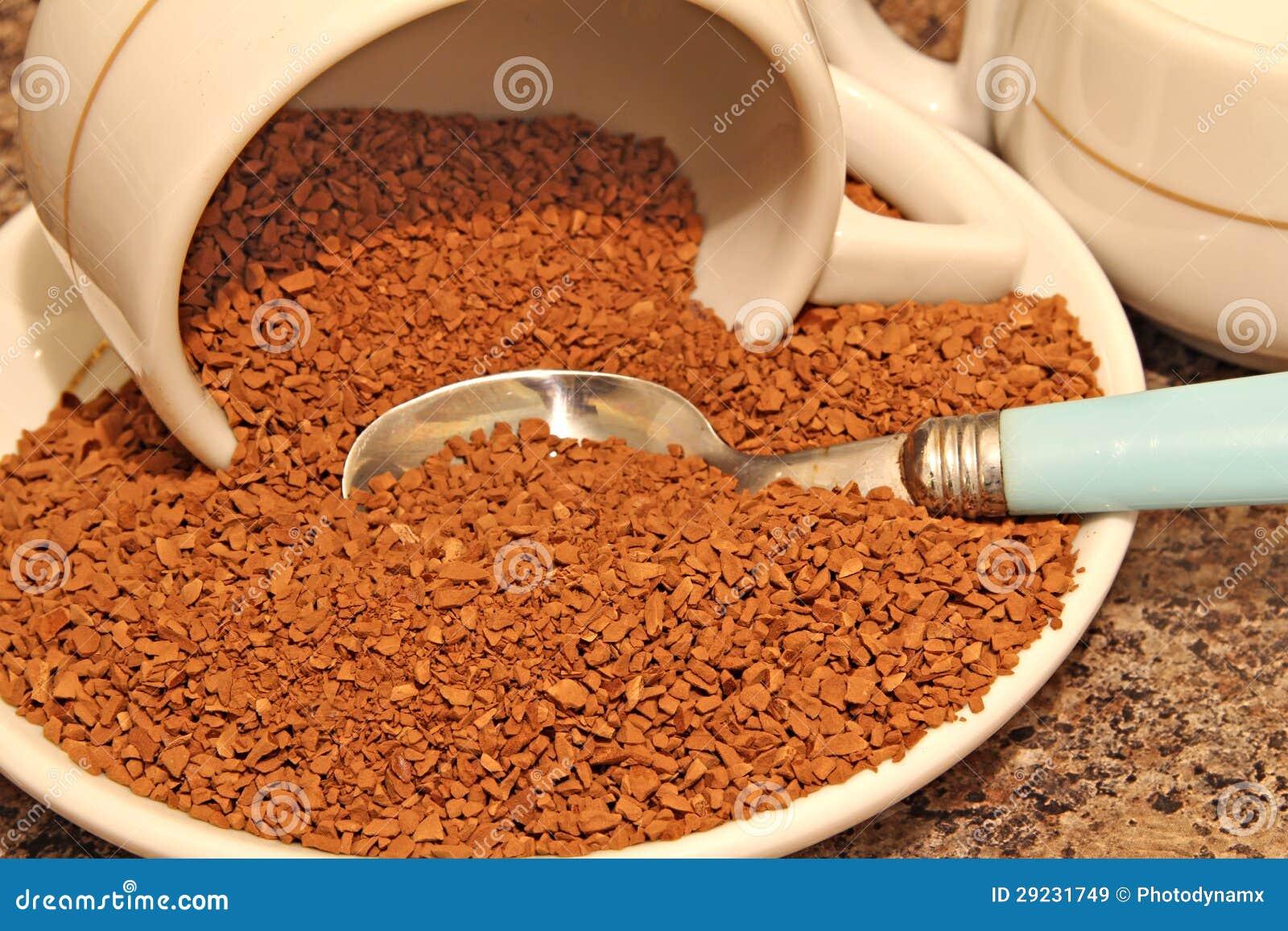 Download Instante Do Café Liofilizado Imagem de Stock - Imagem de indústrias, alimento: 29231749
