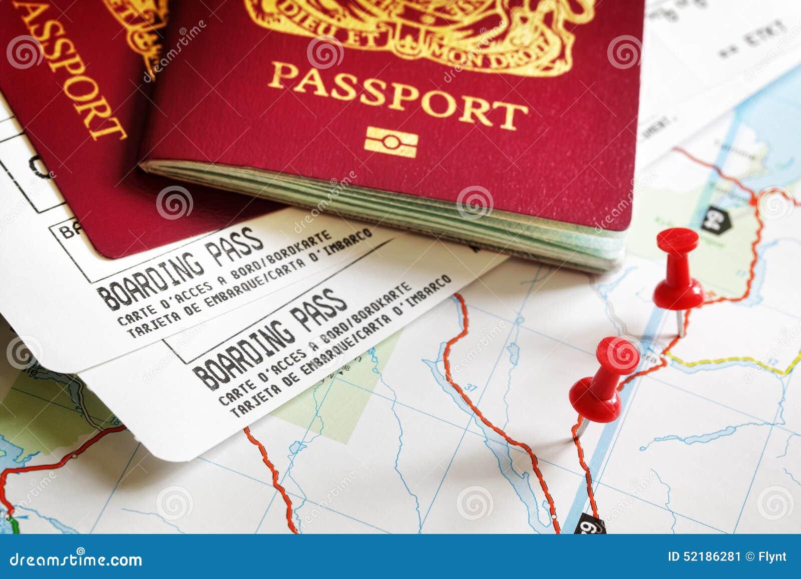 Instapkaart en paspoort
