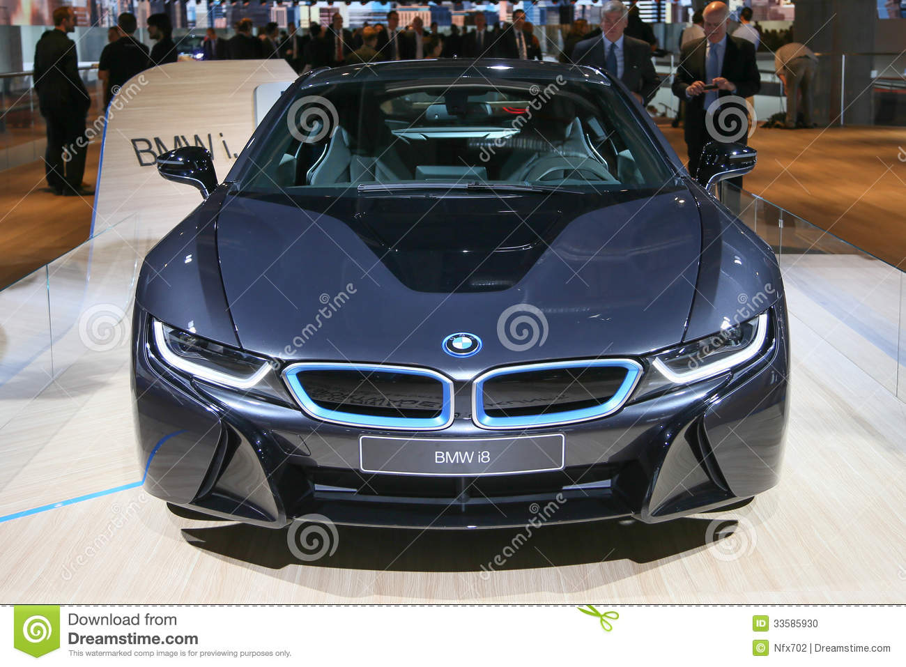 insteek hybride sportwagen bmw i8 redactionele afbeelding afbeelding 33585930. Black Bedroom Furniture Sets. Home Design Ideas