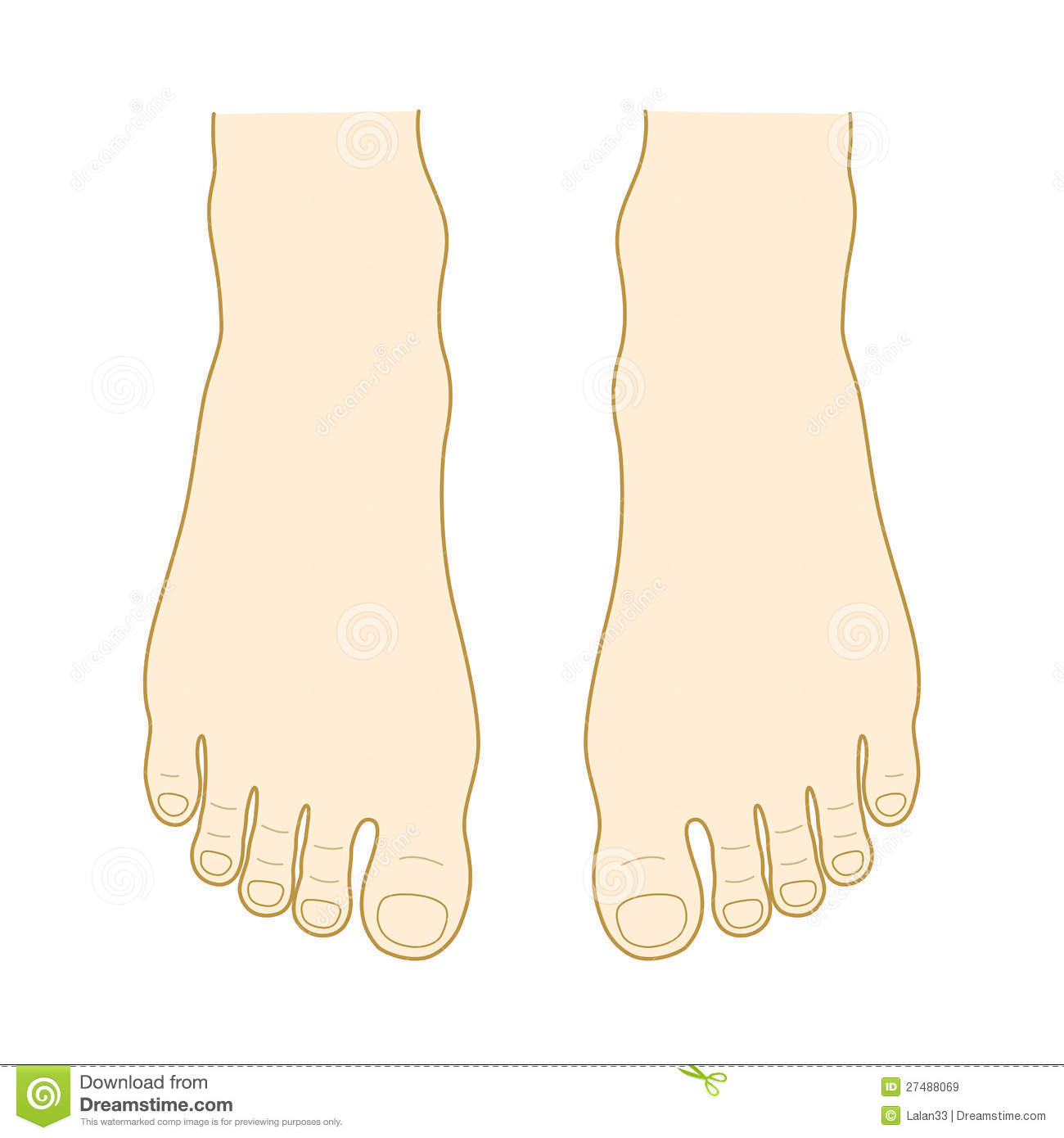 Instep And Toe Royalty Free Stock Images - Image: 27488069