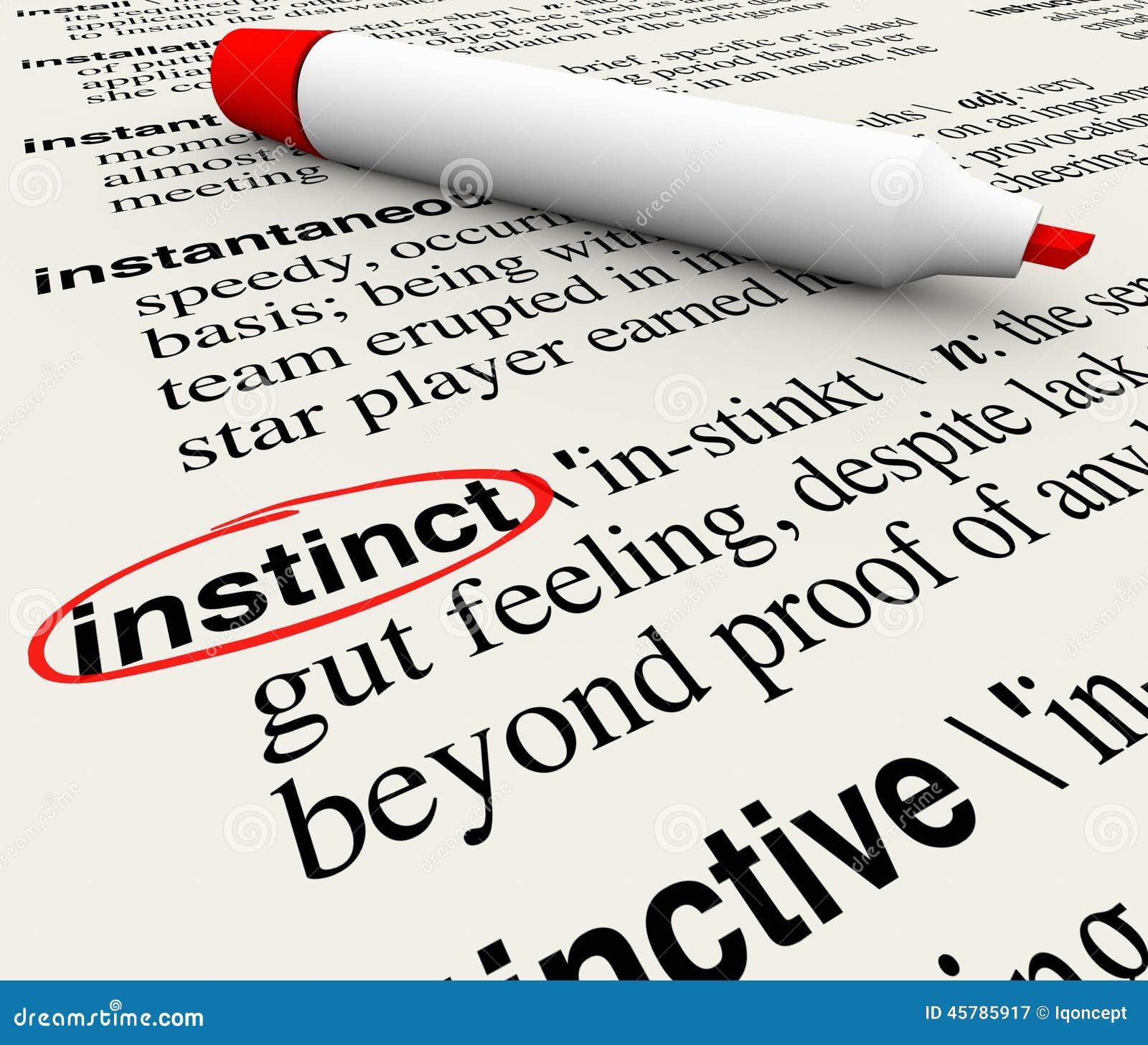 Define Gut Feeling