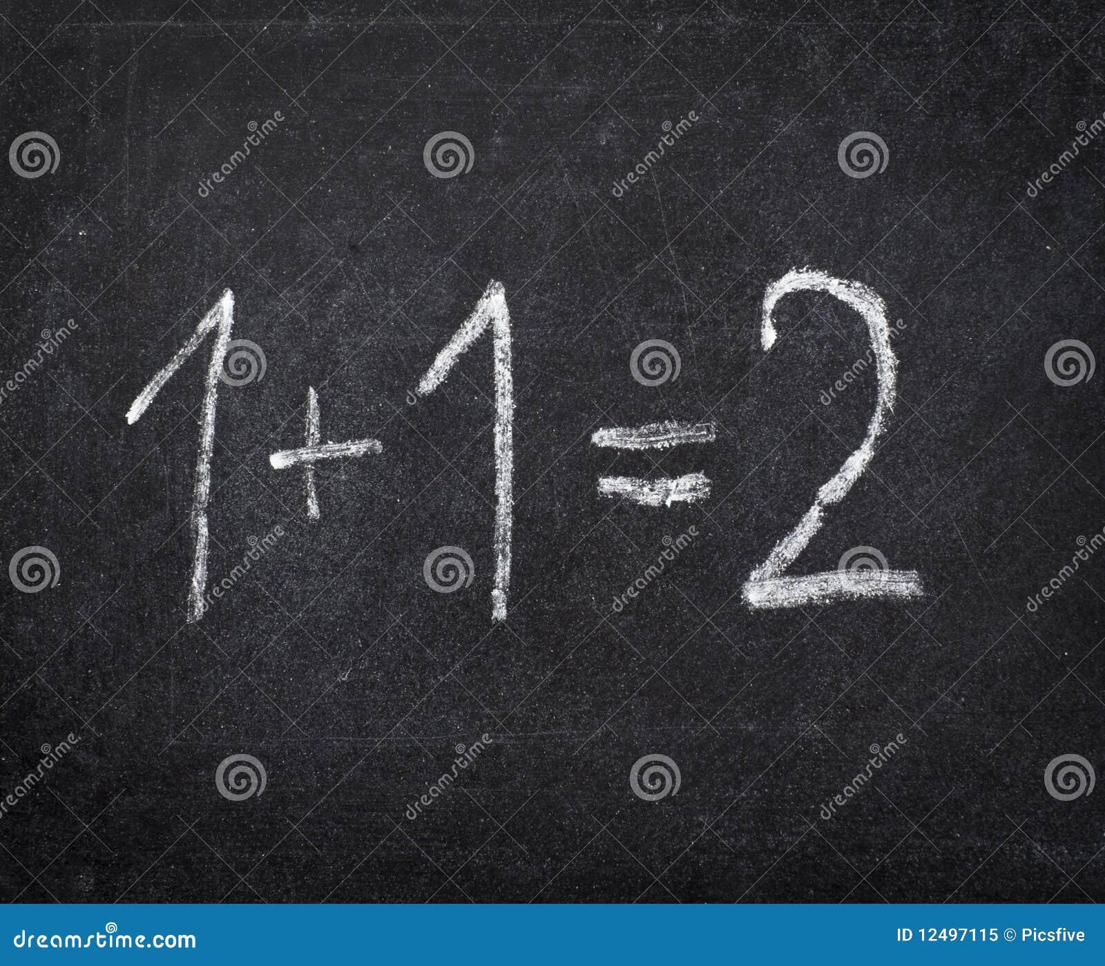 Instrução de escola da sala de aula da matemática do quadro
