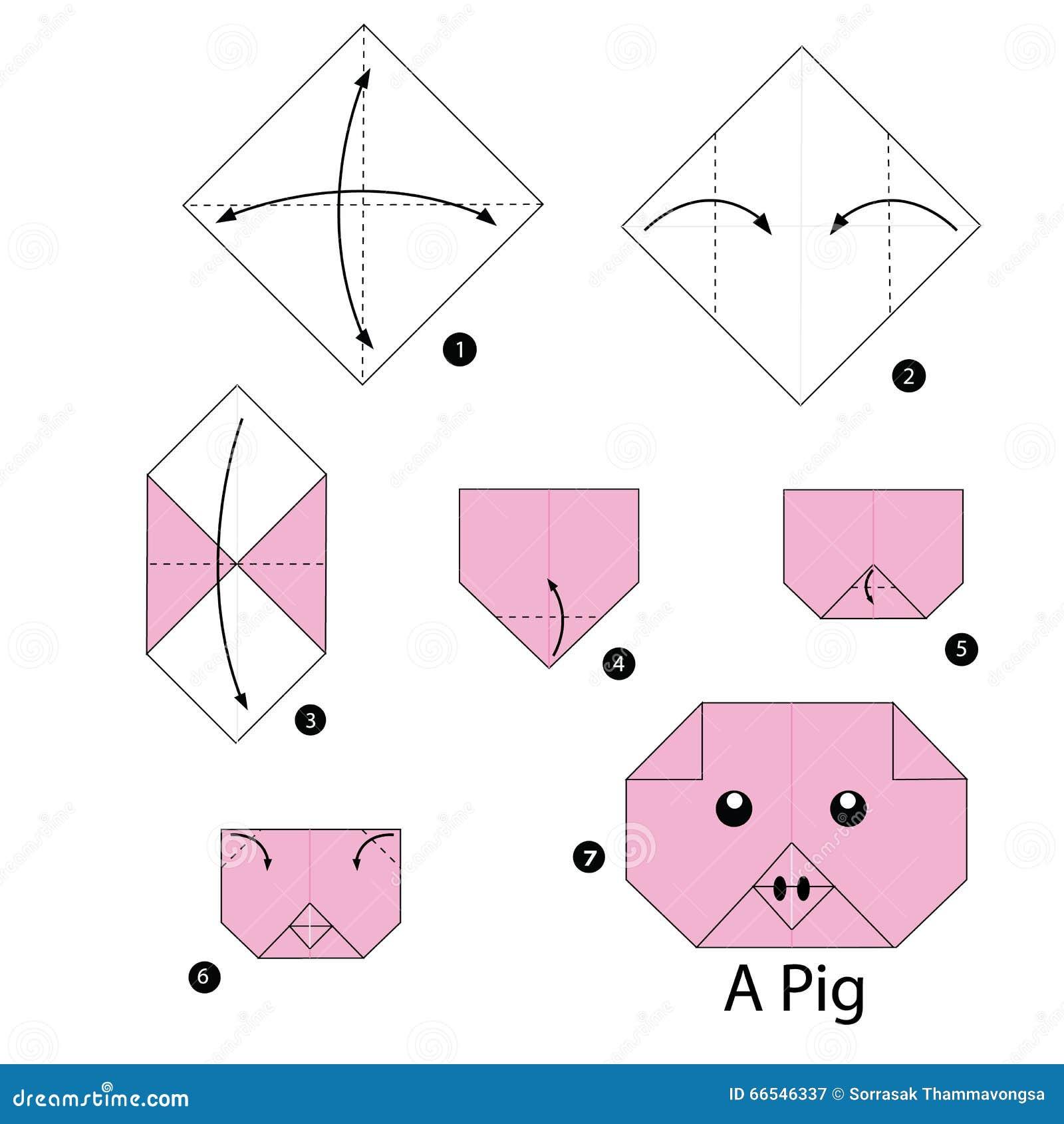 Instrucciones Paso A Paso Cómo Hacer El Cerdo De La Papiroflexia
