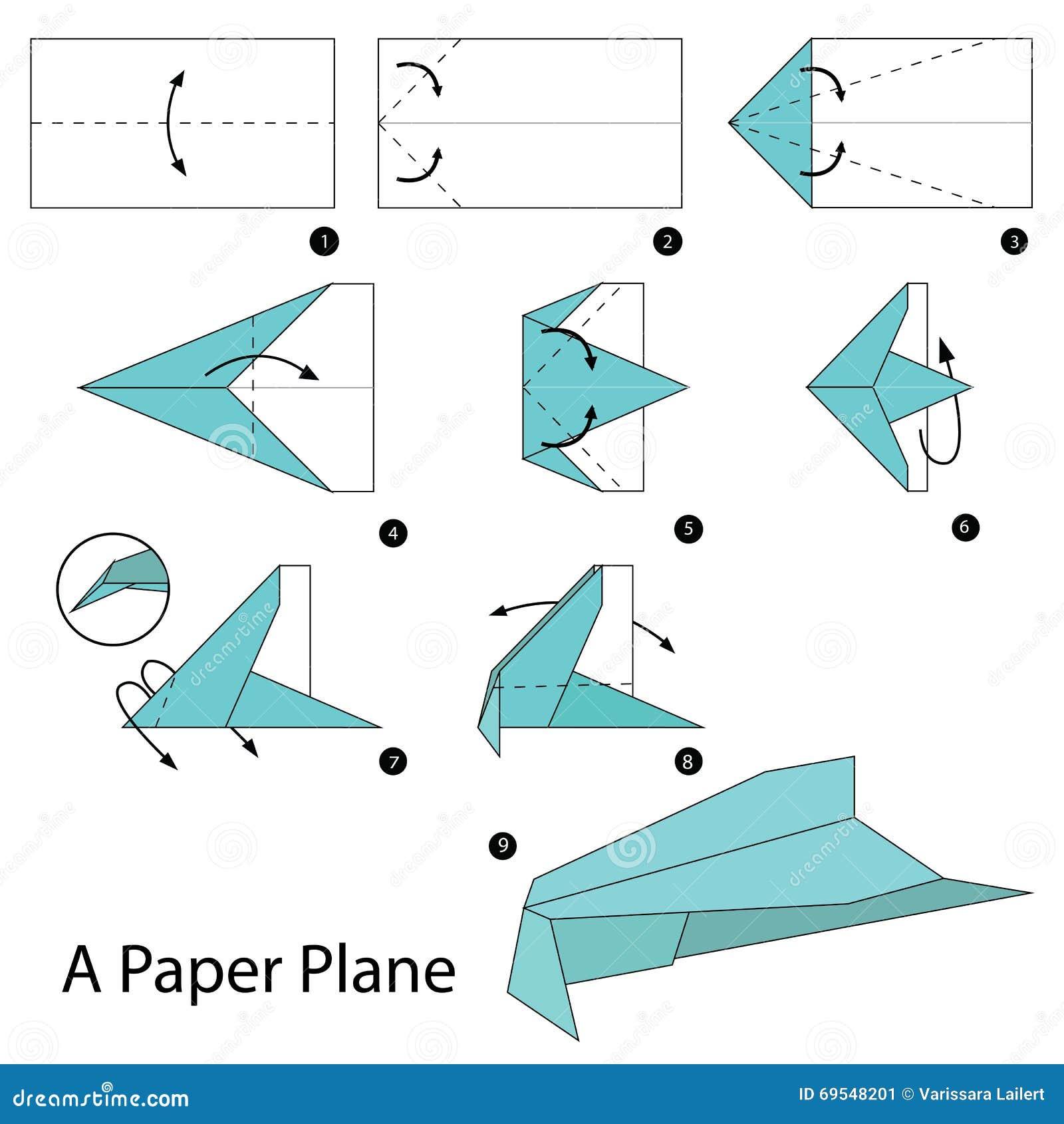 3d Origami Swan Diagram Animal Kid