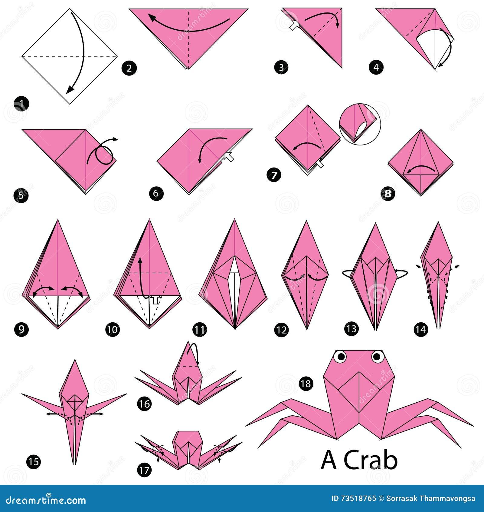 Pasos para hacer una mariquita en origami instrucciones - Papiroflexia paso a paso ...
