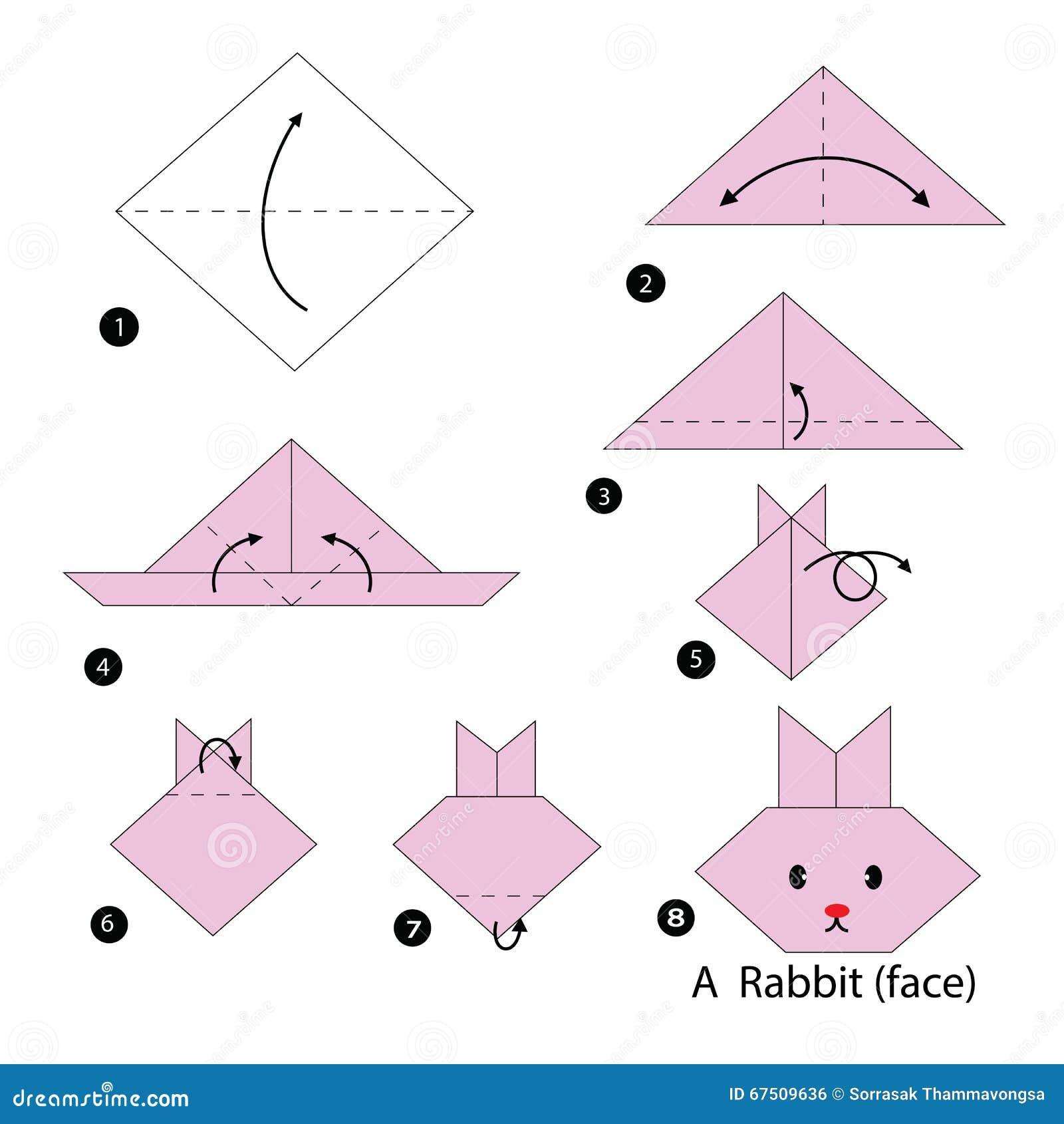 Instrucciones paso a paso cómo hacer papiroflexia un conejo