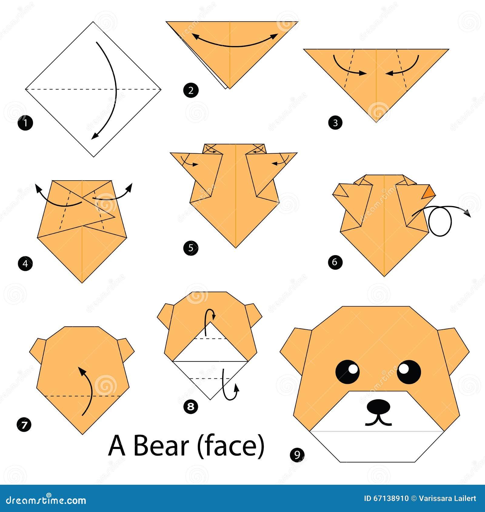 Instrucciones paso a paso c mo hacer papiroflexia un oso - Como hacer un estor enrollable paso a paso ...