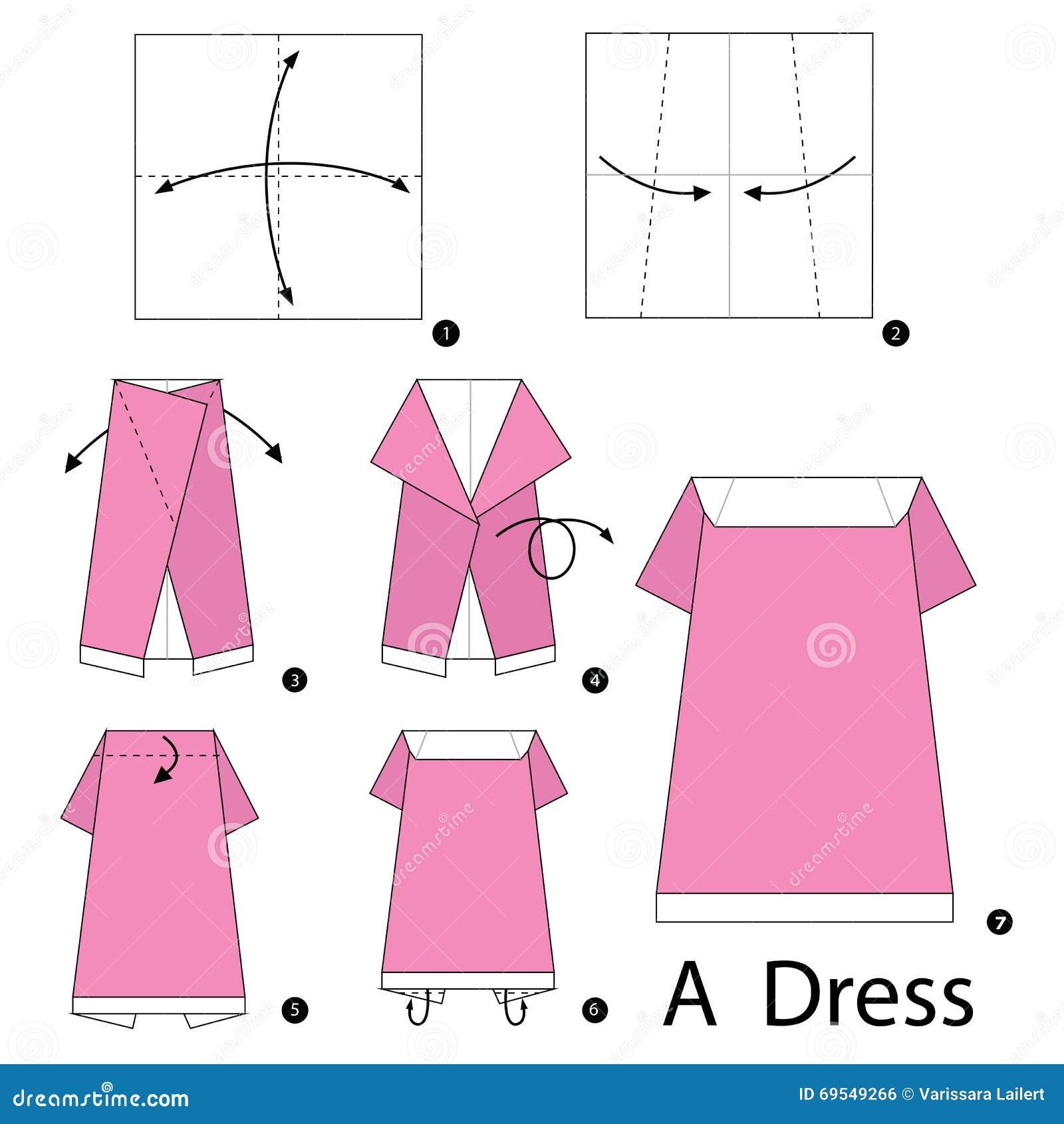 Papiroflexia 3d vestidos instrucciones paso a paso c 243 - Papiroflexia paso a paso ...