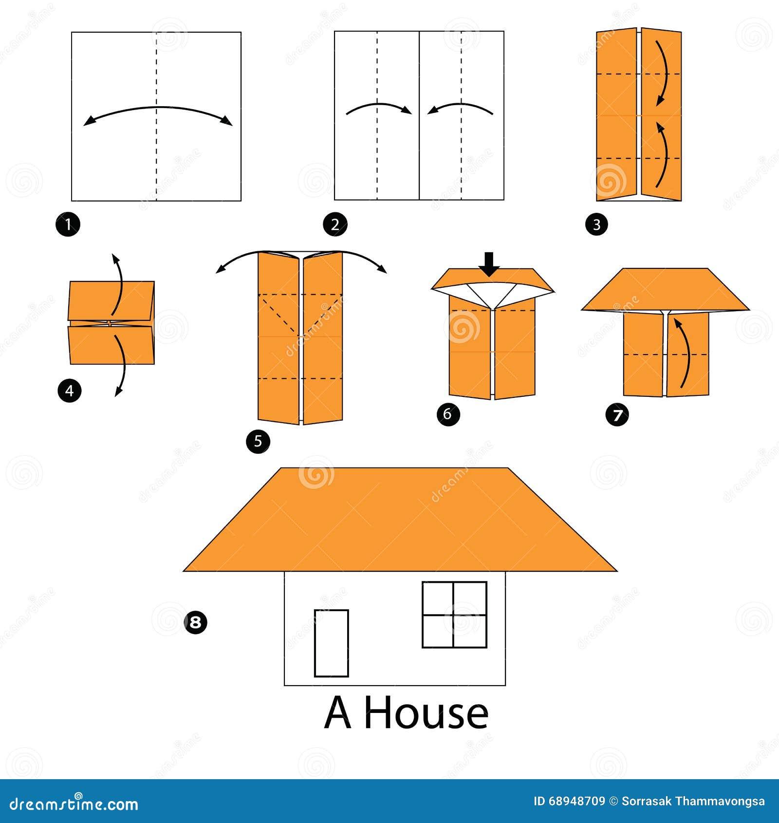 Instrucciones paso a paso c mo hacer papiroflexia una casa - Pasos para construir una casa ...