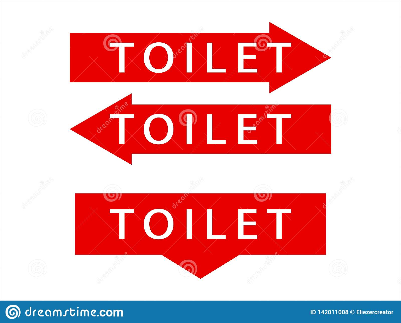 Instructies voor toilet het schrijven pictogrammen