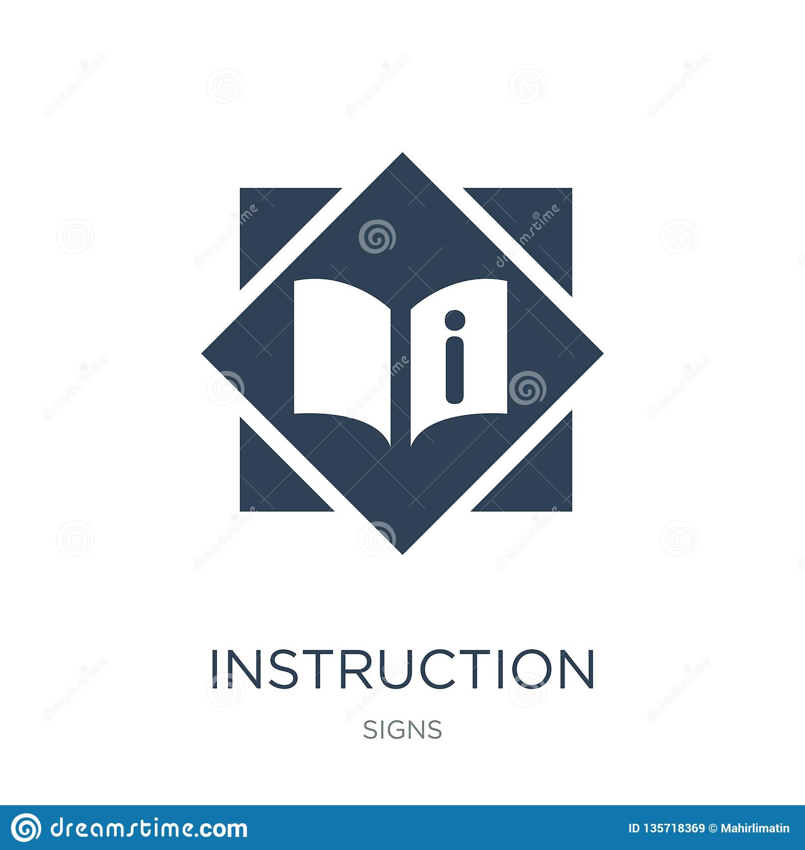 instruction icon in trendy design style. instruction icon isolated on white background. instruction vector icon simple and modern
