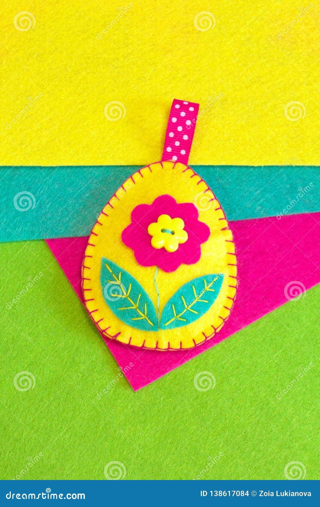 Felt Easter Egg Decoration Crafts How To Make Handmade