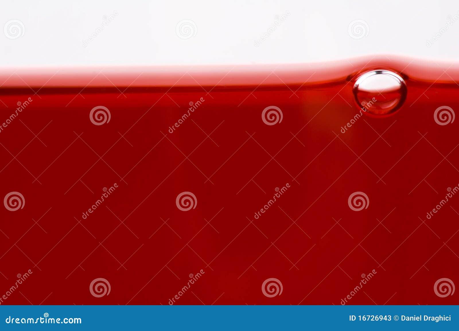 Instruction-macro de bulle d air en vin rouge