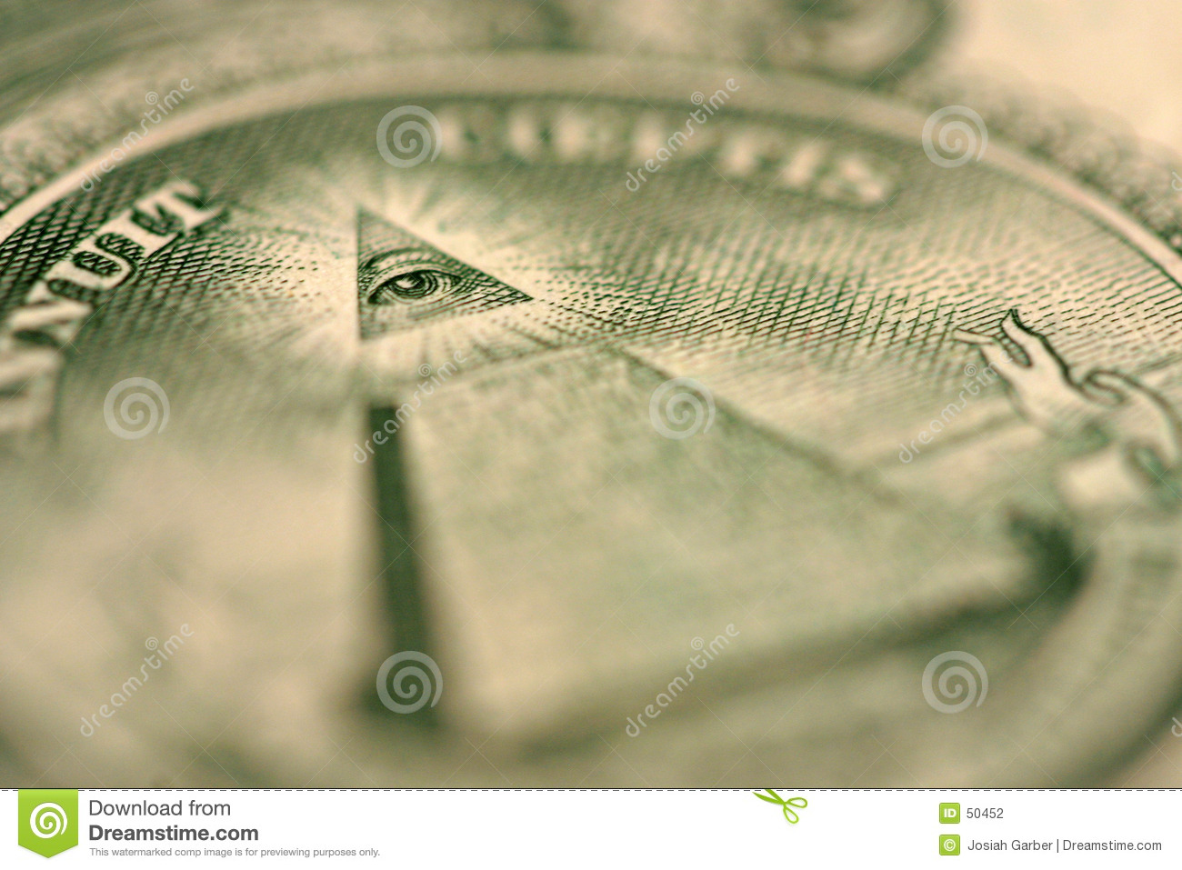 Download Instruction-macro De Groupe De Billet D'un Dollar Photo stock - Image du pyramides, vert: 50452