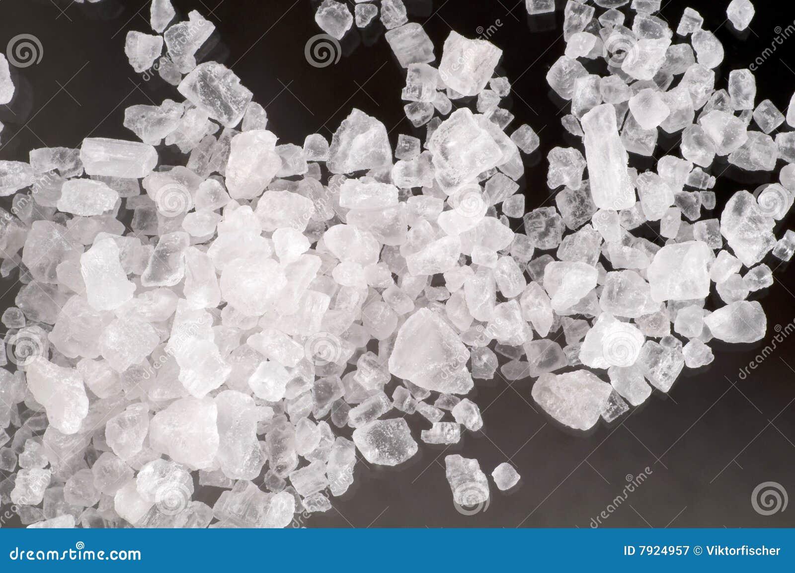 macro des cristaux de sel de mer photographie stock libre de droits image 7924957