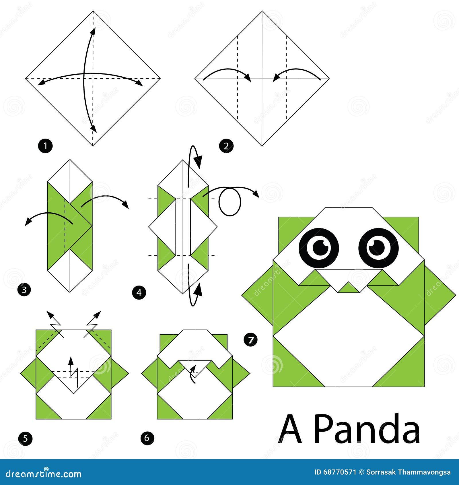 Instructions Etape Par Etape Comment Faire A Origami Un Bateau Delicat Illustration De Vecteur Illustration Du Instructions Faire 68770571