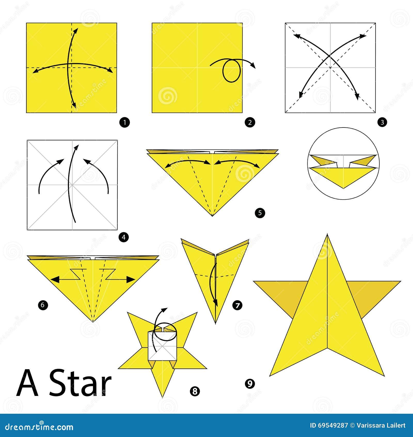 Instructions tape par tape comment faire origami une - Comment faire une etoile ...