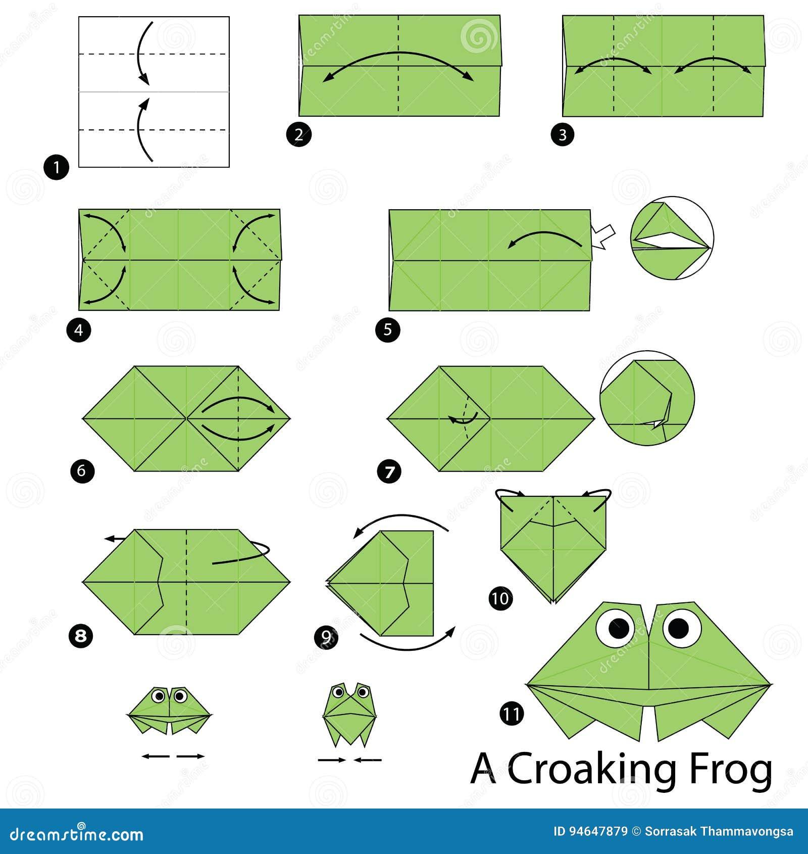Comment faire un origami grenouille fashion designs - Origami facile grenouille ...