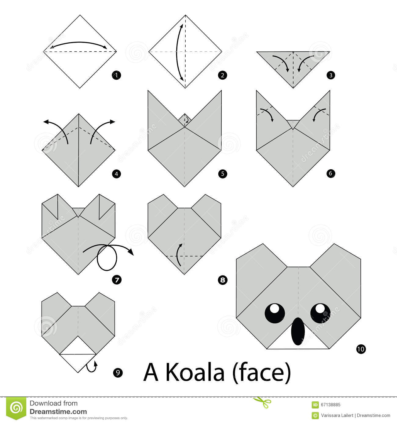 How To Make A Koala Out Of Origami