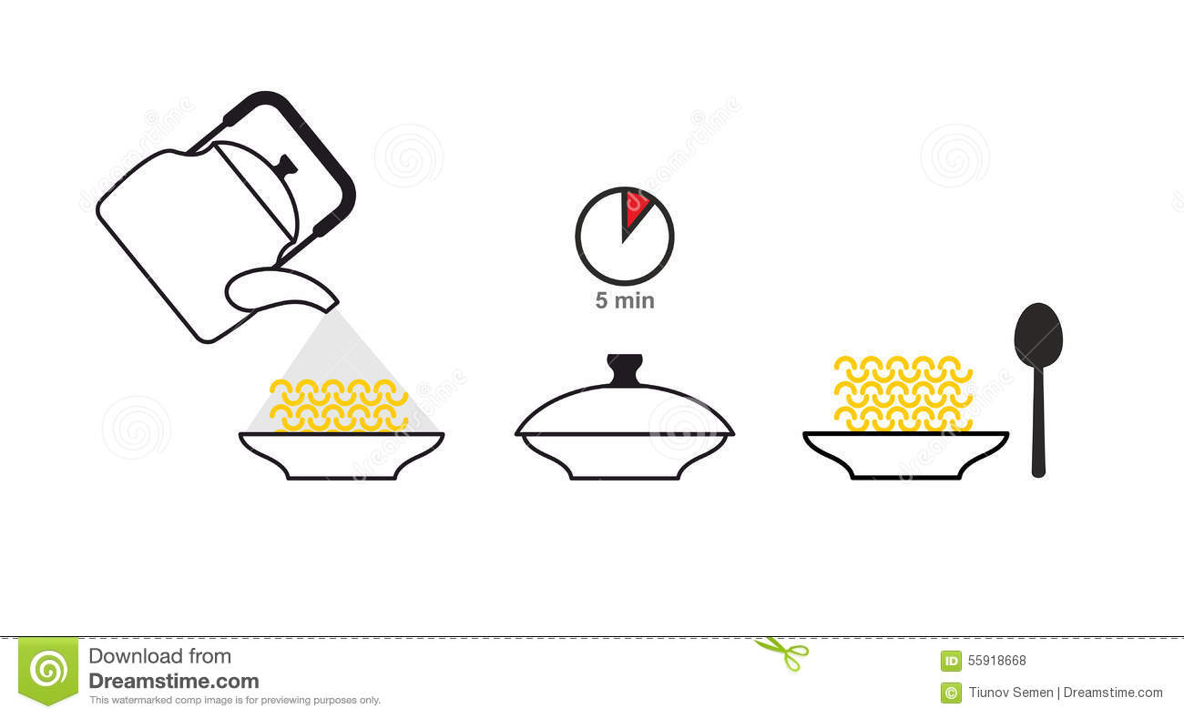 Instructions Of A Cooking Vector Illustration ...