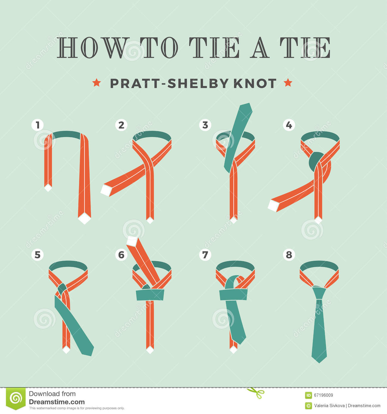 Simple tie knot instructions.