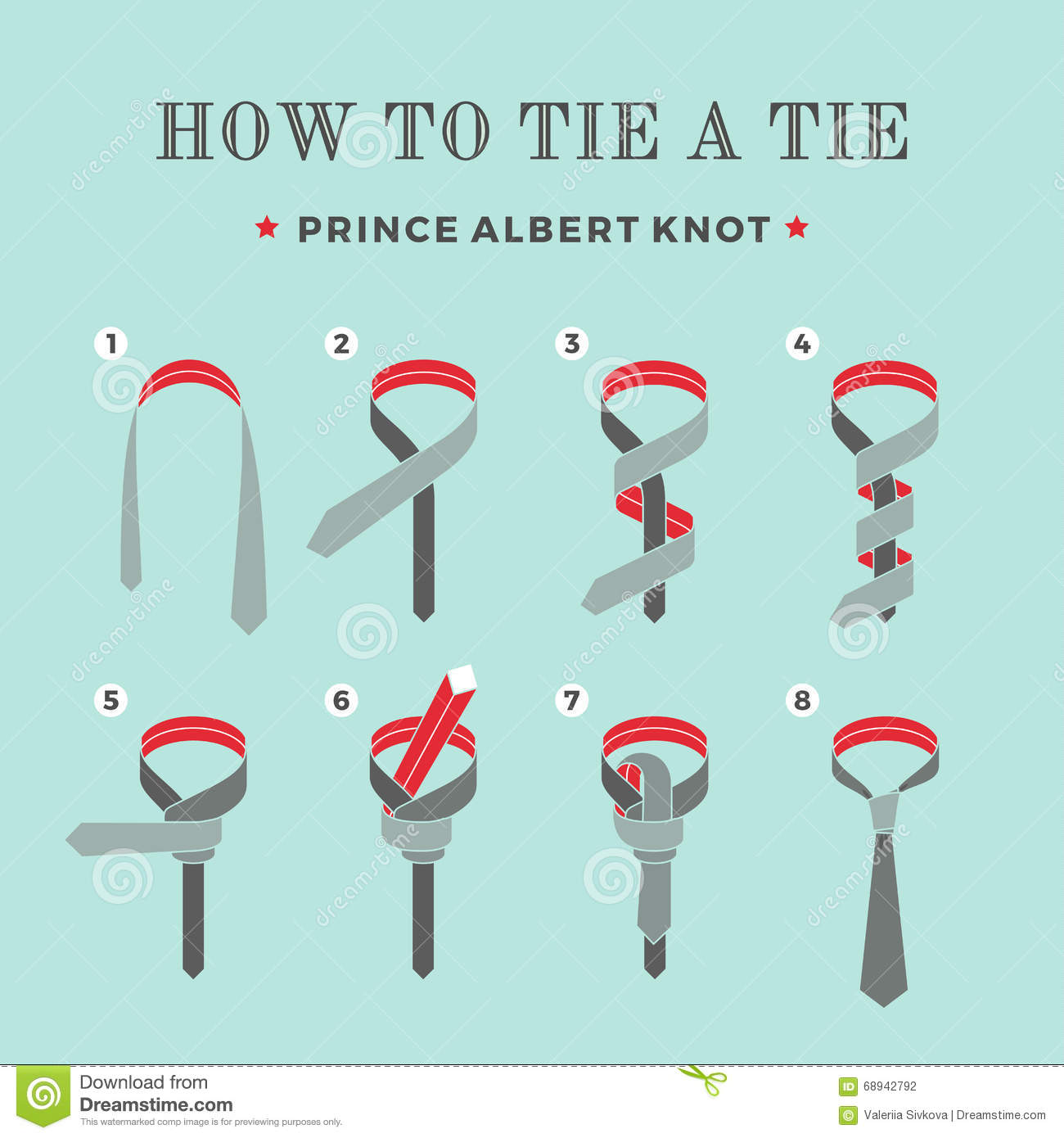 Instructions On How To Tie A Tie On The Turquoise ...