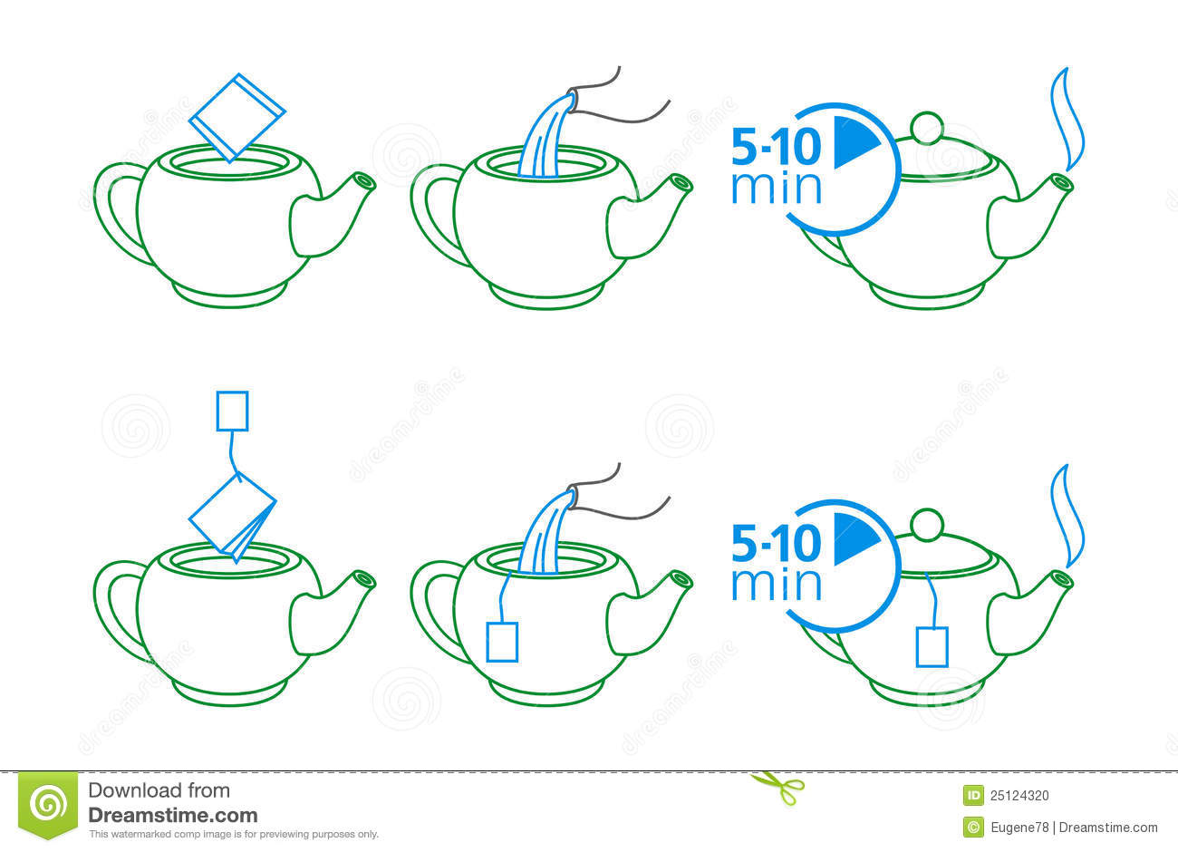 Instructions For Making Tea Stock Vector - Illustration of ...