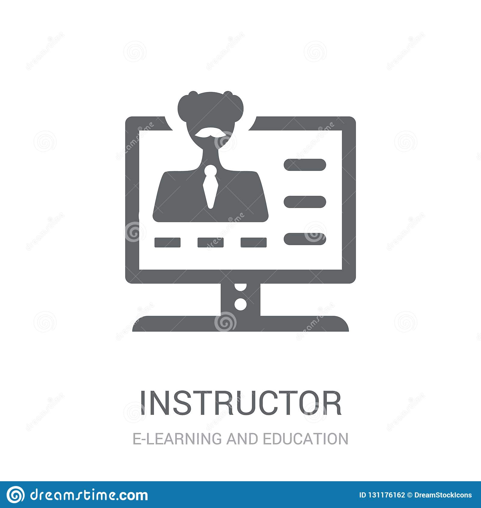 Instructor icon. Trendy Instructor logo concept on white background from E-learning and education collection