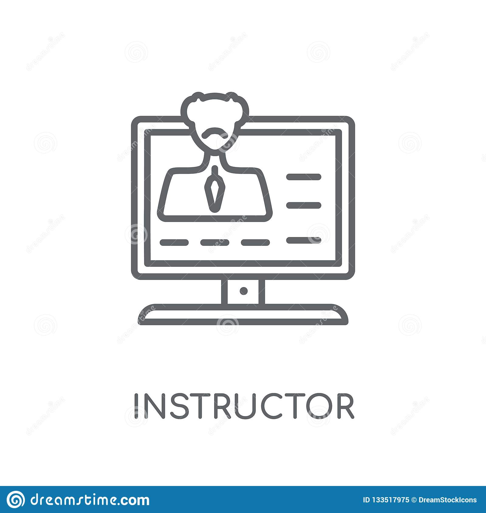 Instructor linear icon. Modern outline Instructor logo concept o