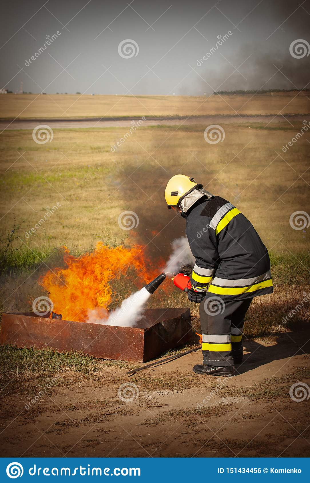 Instructor on a training fire