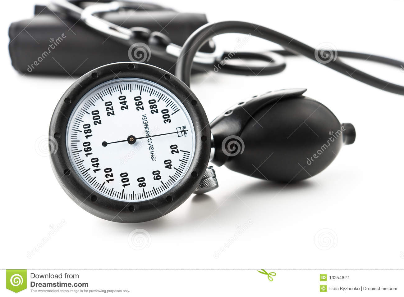 Pressure Measuring Instruments : Instrument for blood pressure measurement stock image