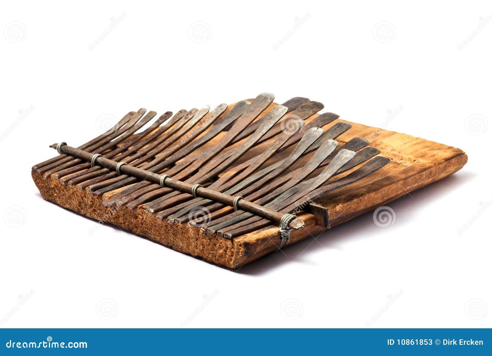 Instrument De Musique Africain Traditionnel De Kalimba  ~ Instrument En Bois Africain