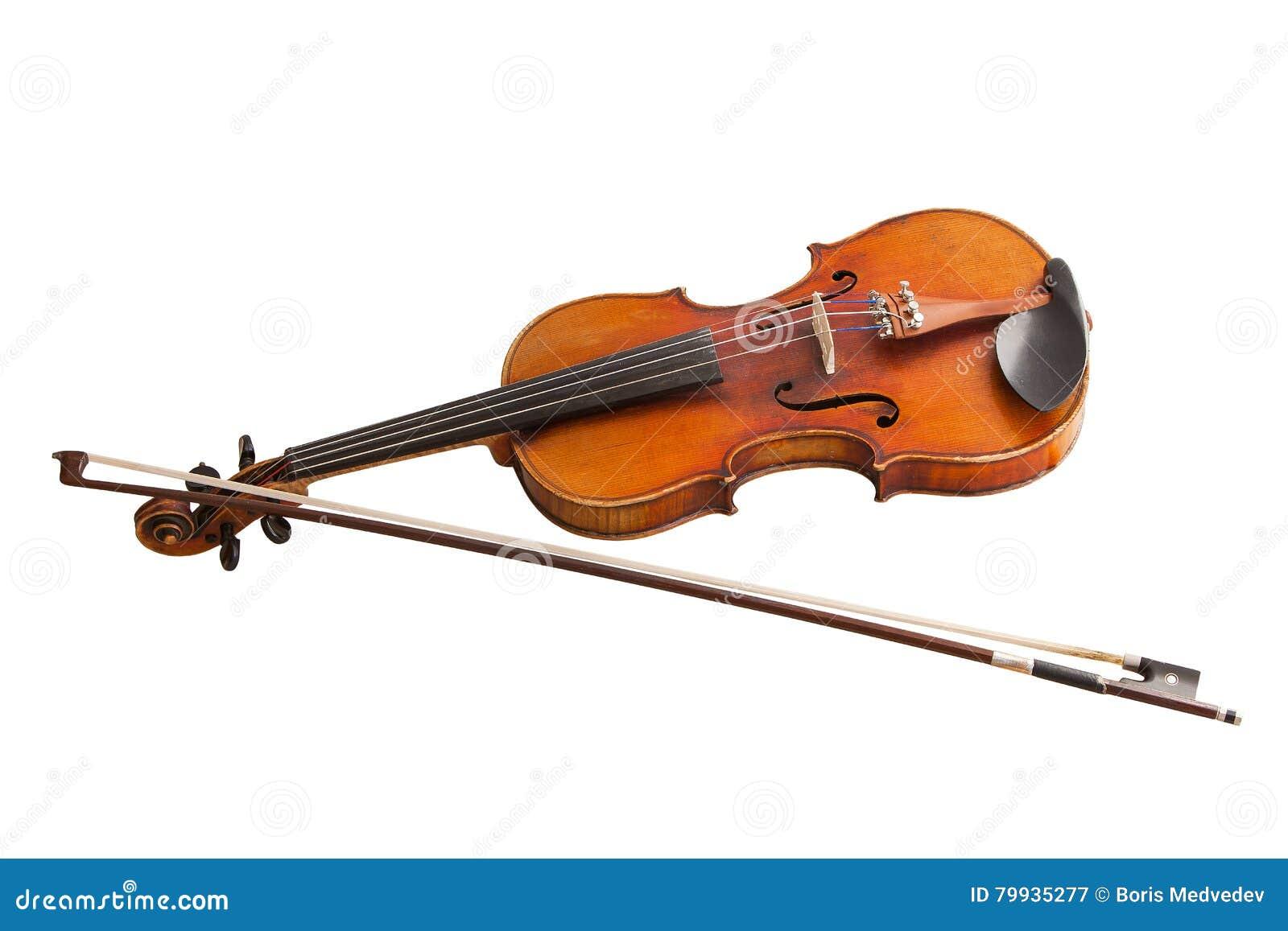 Instrument de musique classique, vieux violon d isolement sur un fond blanc