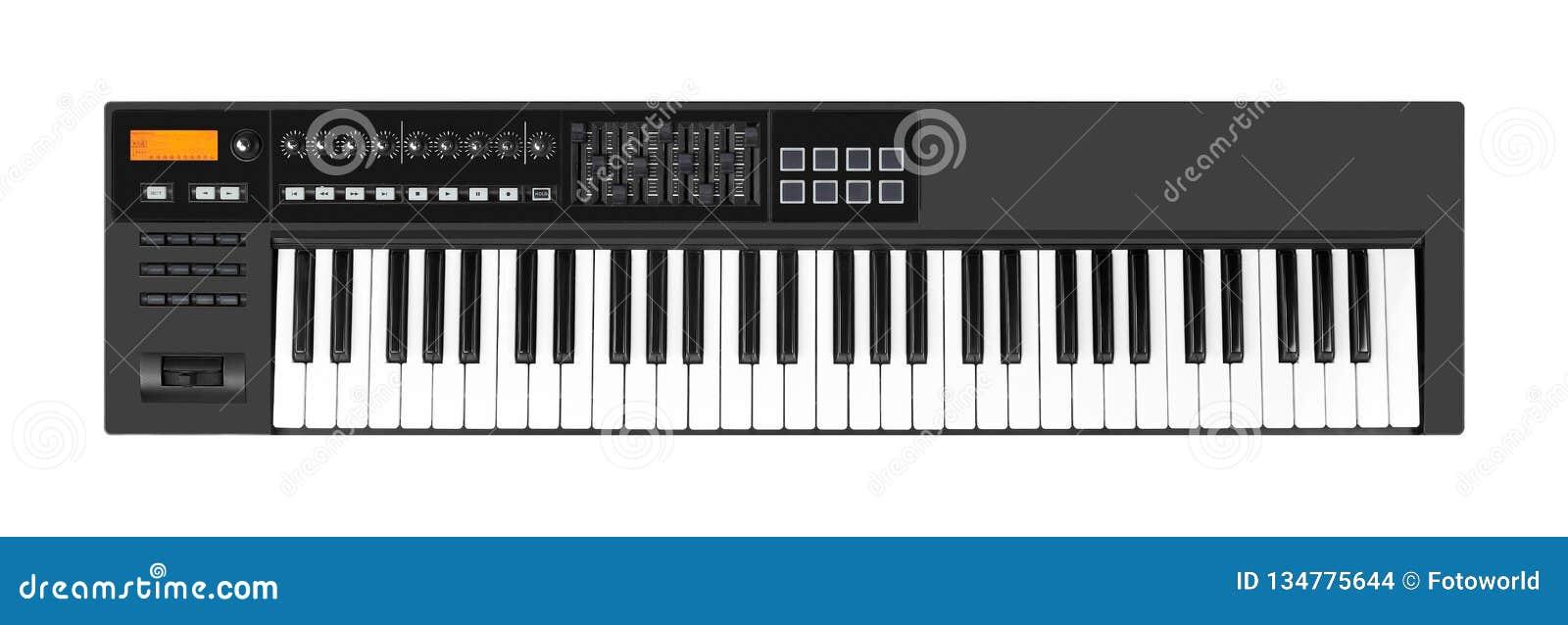 Instrument de musique - fond blanc d isolement par clavier du MIDI