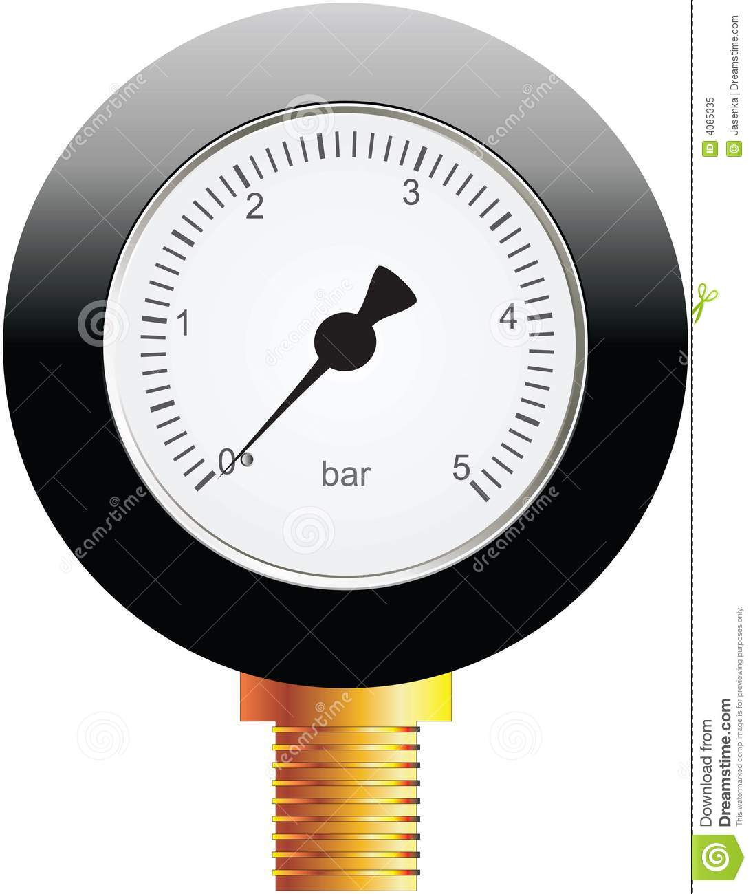 Pressure Measuring Instruments : Instrument for measuring pressure stock vector