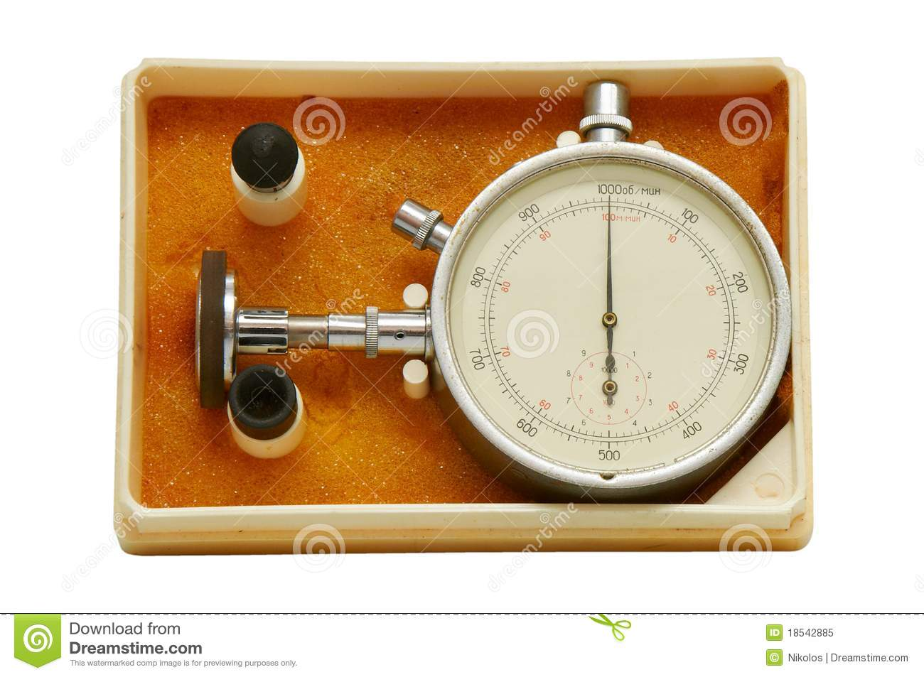 Time Measuring Instruments : Instrument for measuring speed royalty free stock photo