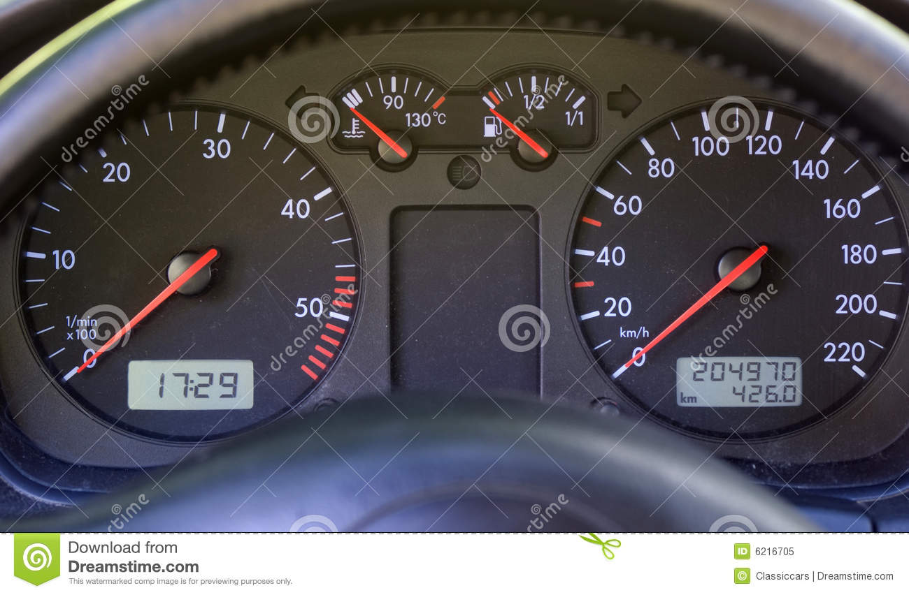 Vehicle Instrument Panel : Instrument panel on modern car dashboard stock image