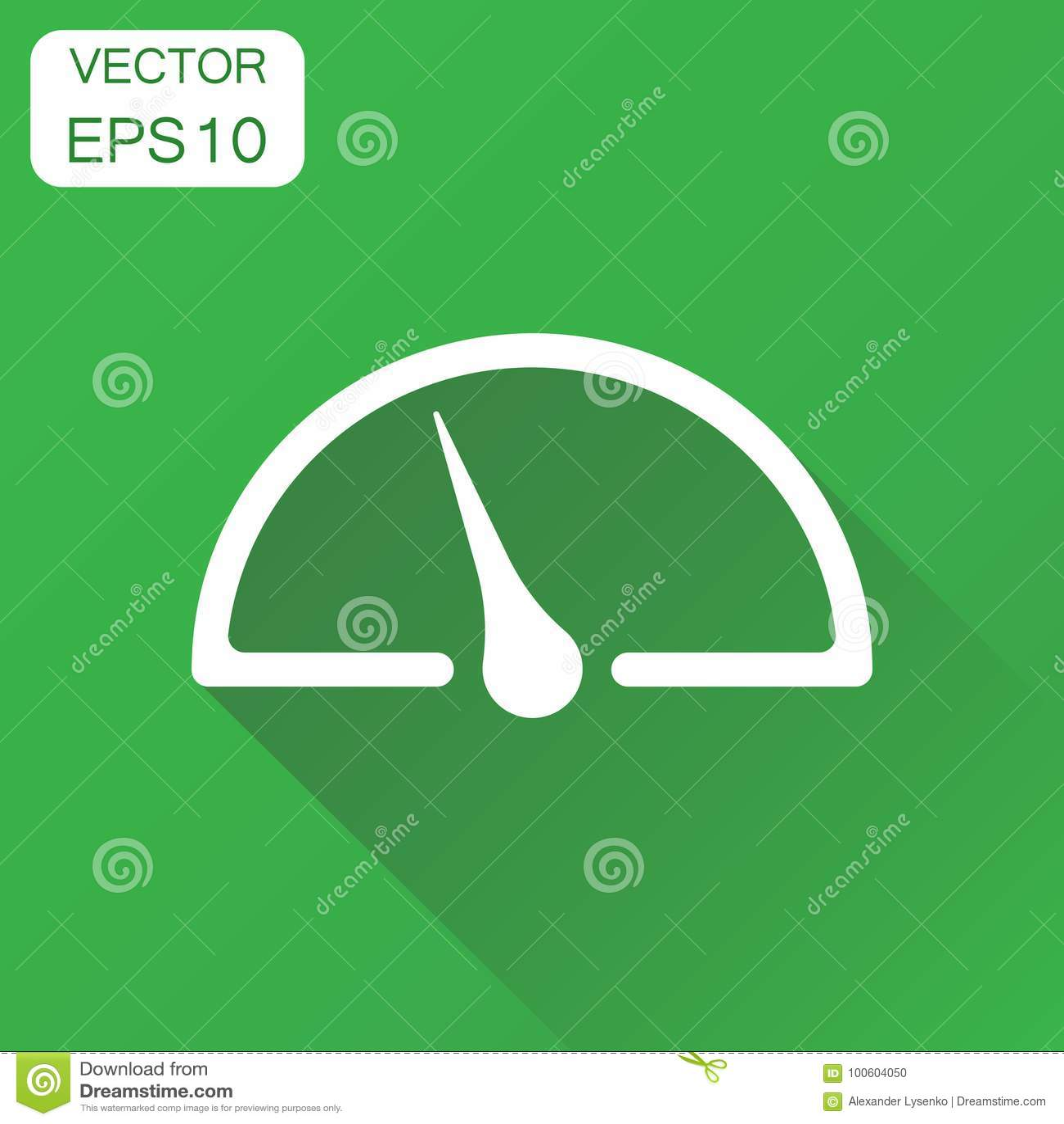 Instrumentbrädasymbol Pictogram för hastighet för affärsidénivåmeter Ve