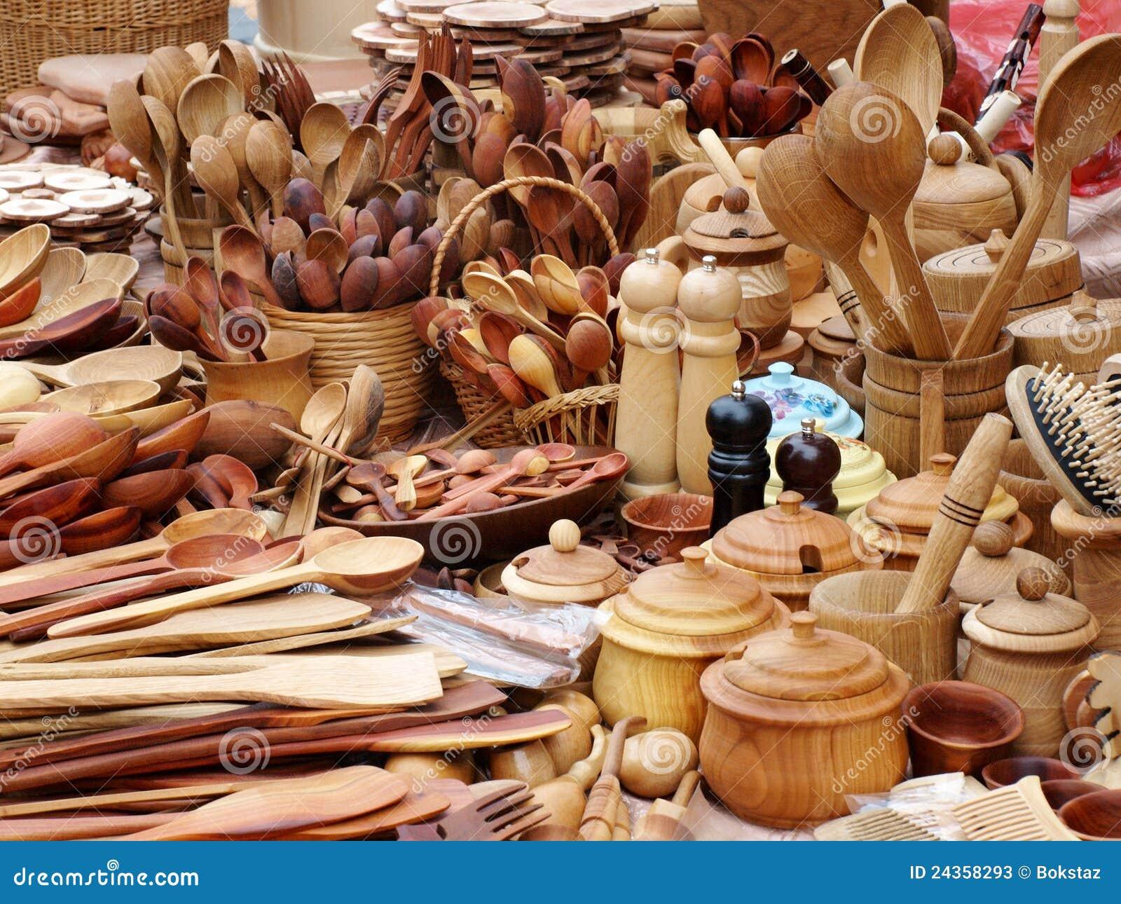 Instrumentos de madera de la cocina imagen de archivo - Instrumentos de cocina ...