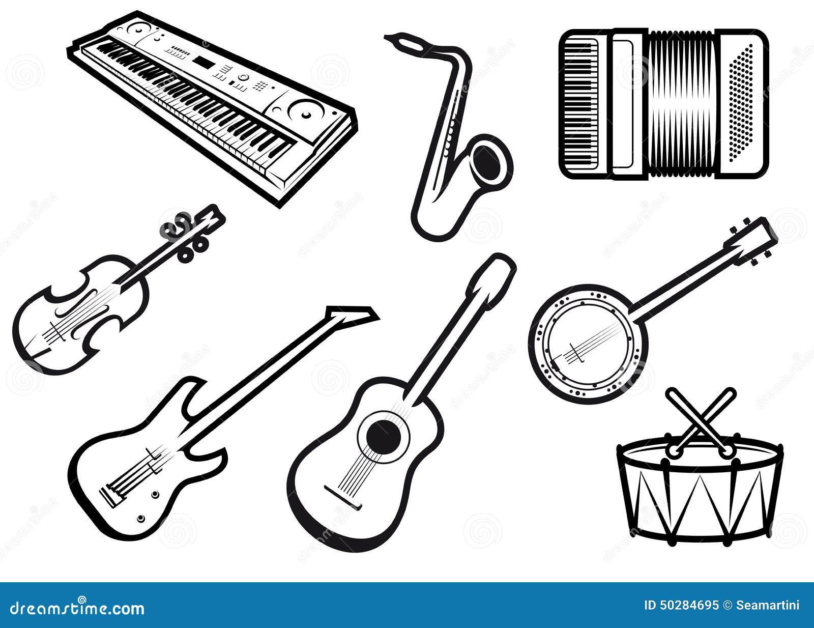 Instrumentos Musicales Ac 250 Sticos Y El 233 Ctricos Ilustraci 243 N