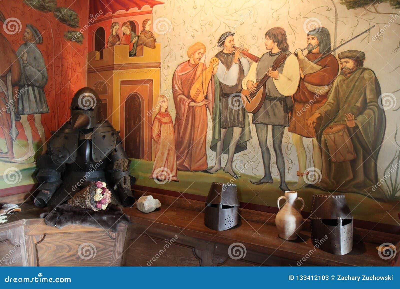 Instrumentos musicales de los trovadores del castillo