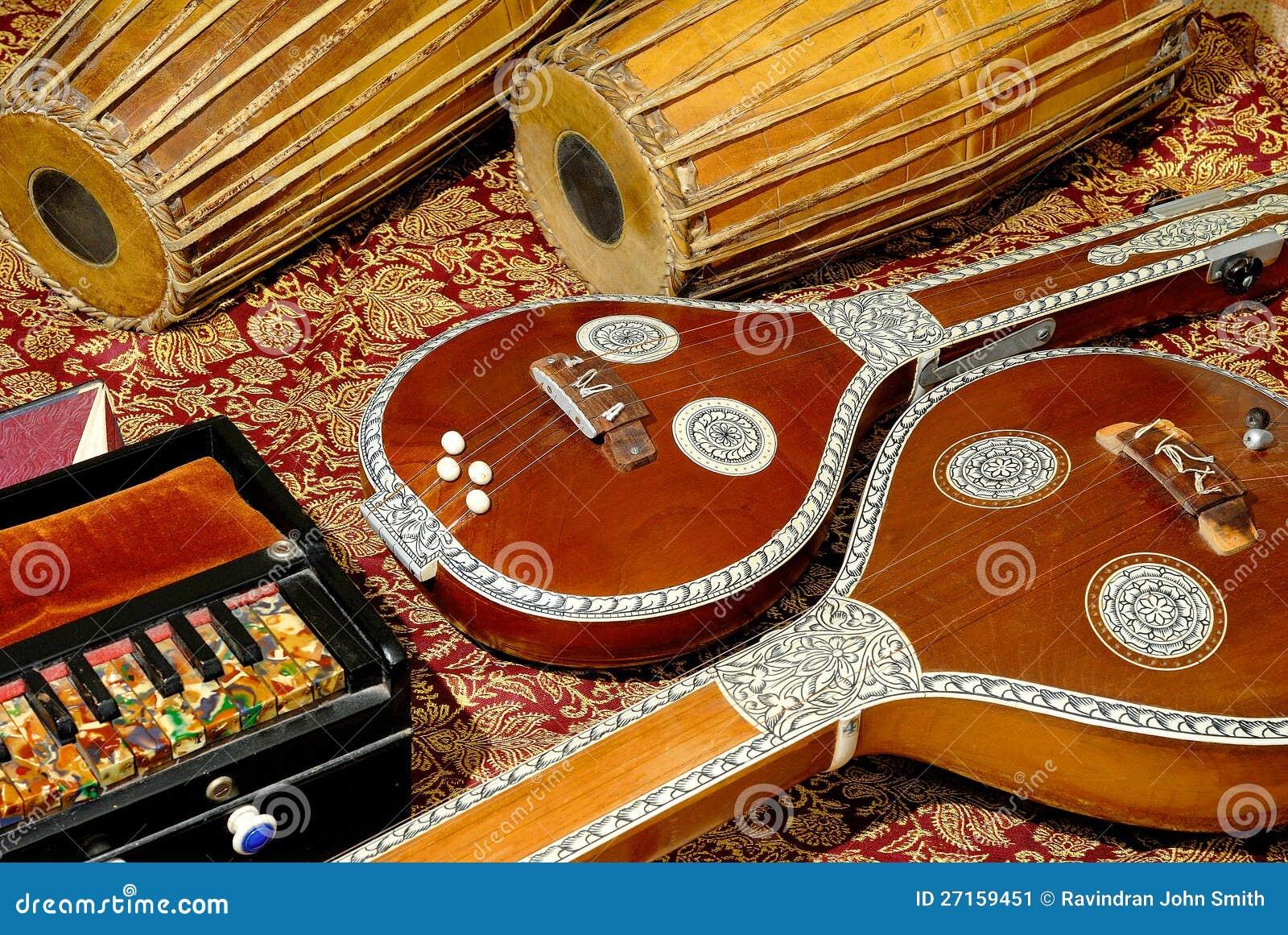 Instrumentos musicales indios