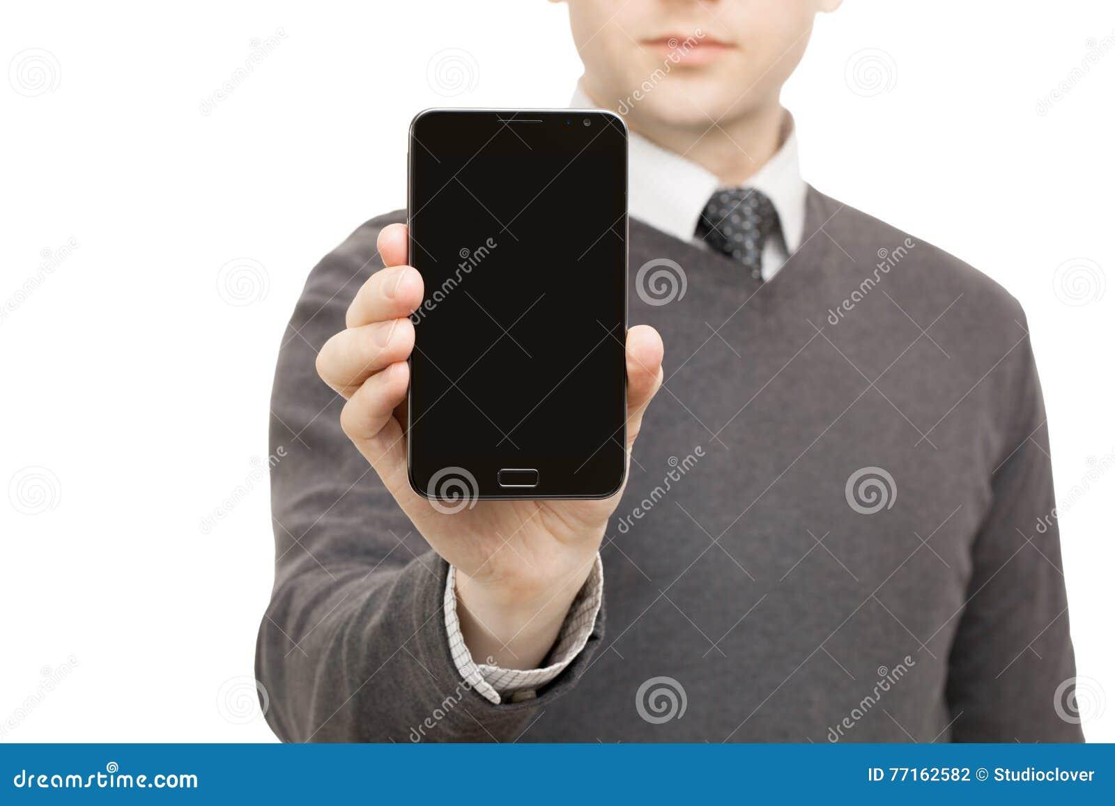 Instruments de Digital, comprimés et smartphones - mâle ne jugeant aucun smartphone de marque disponible