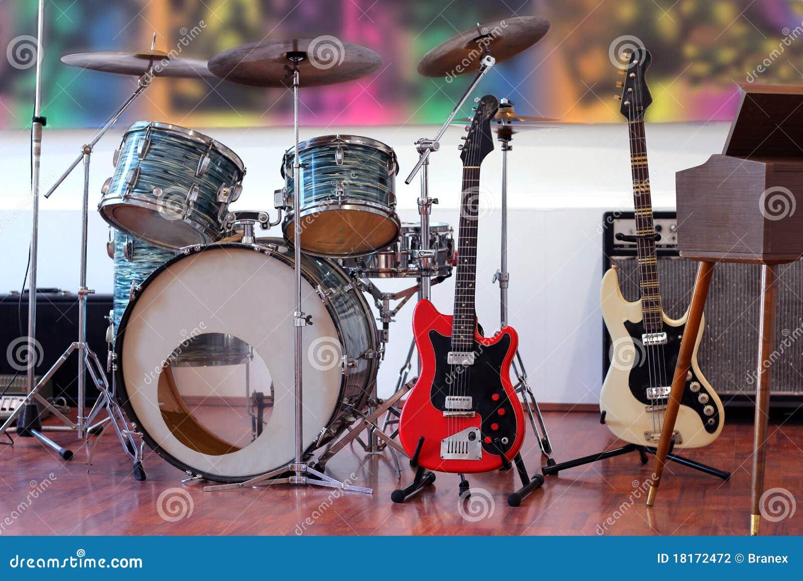 Instruments de groupe de rock