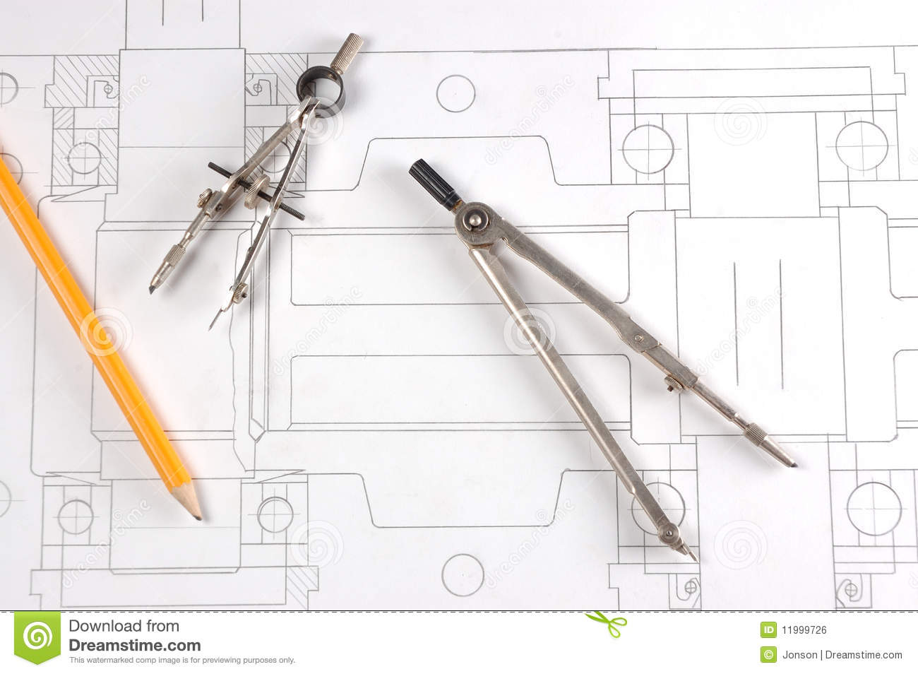 Old Fashioned Technical Drawing Instruments