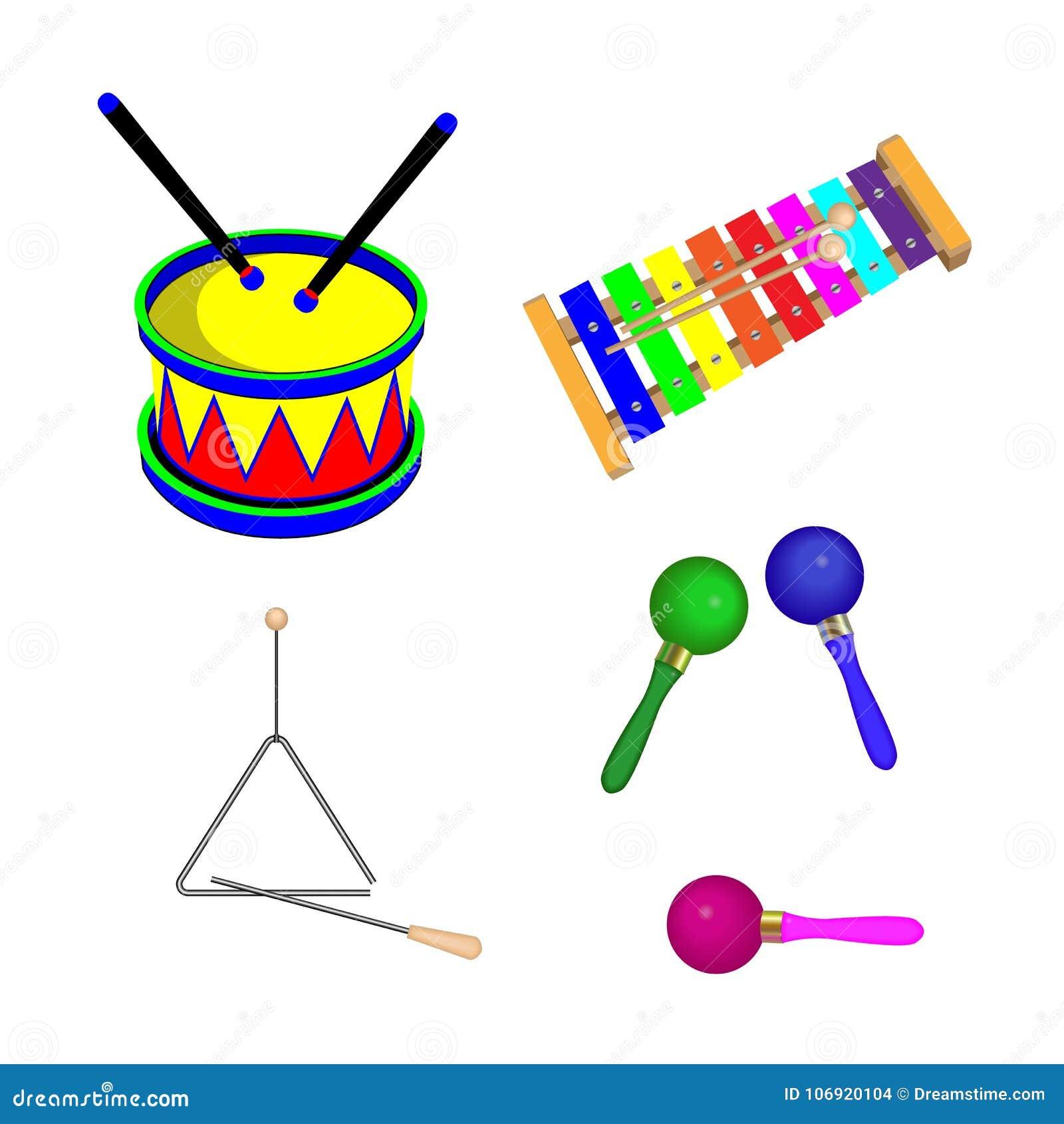 Instrumenty muzyczni dla dzieci