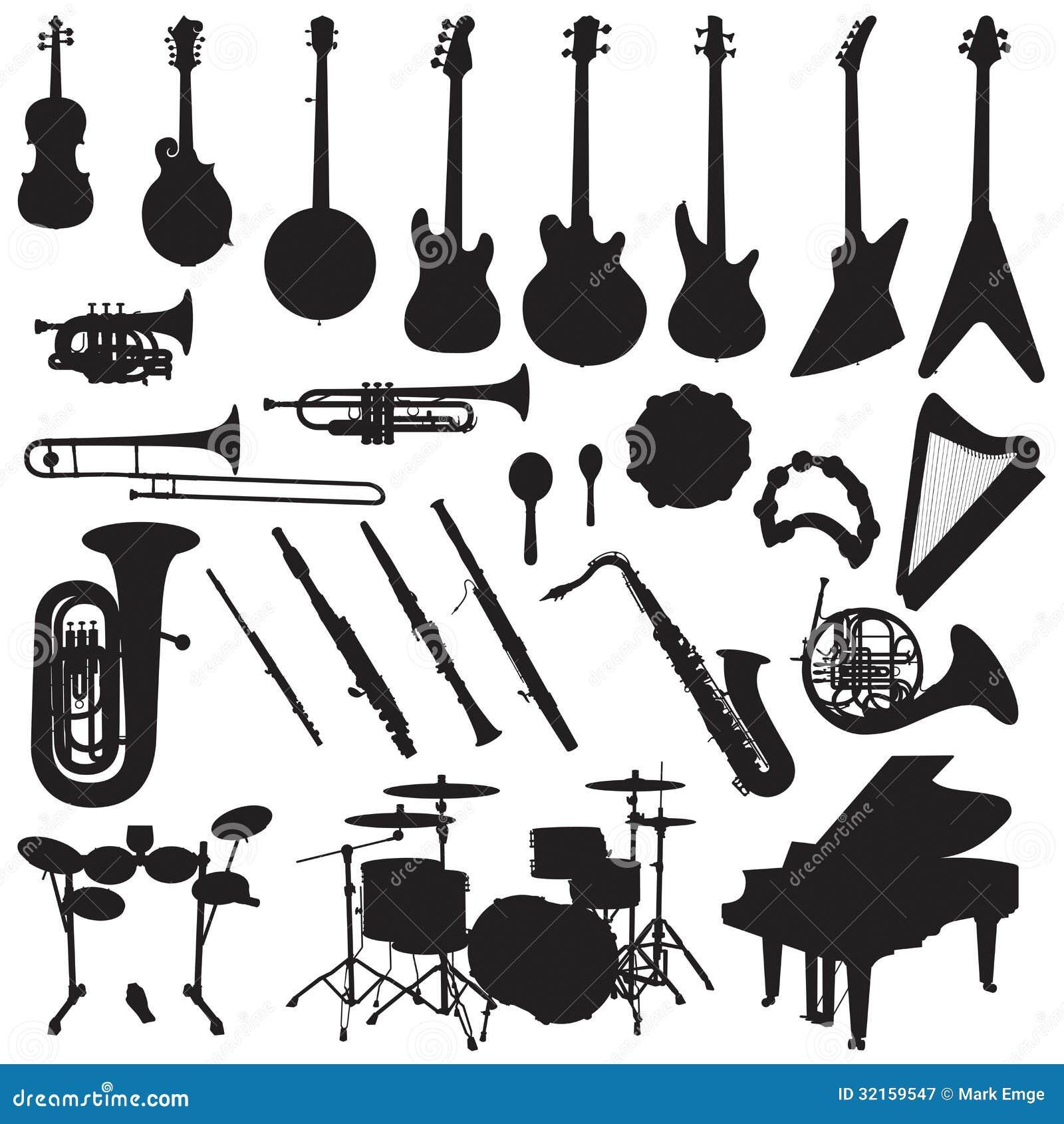 Instrumenty Muzyczni Wektorowi