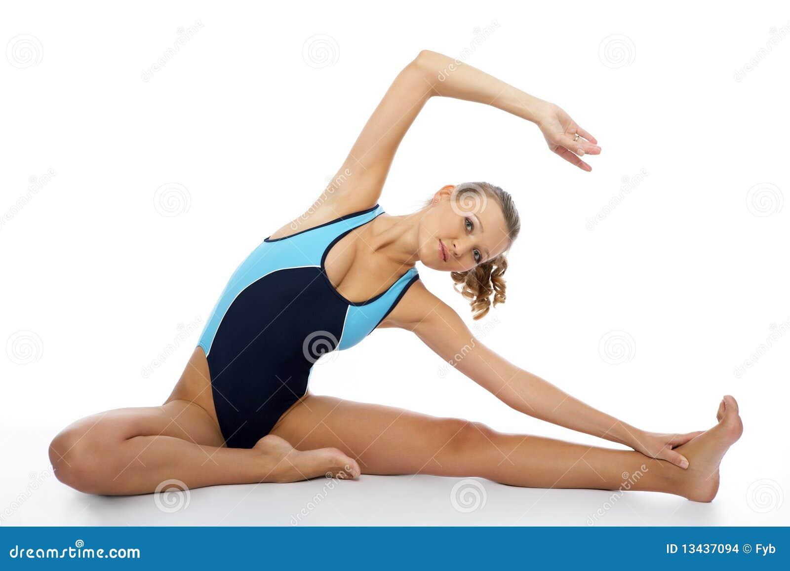 Sexy aerobics instructor